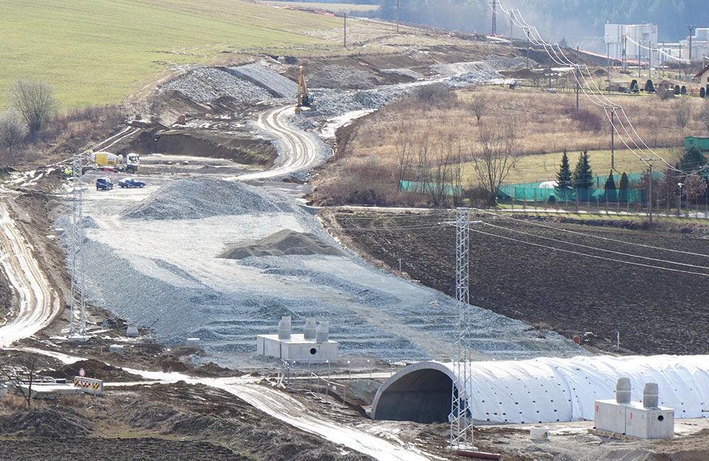 FOTO: Aktuálny stav prác na stavbe diaľničného privádzača 02.03.2020, foto 2