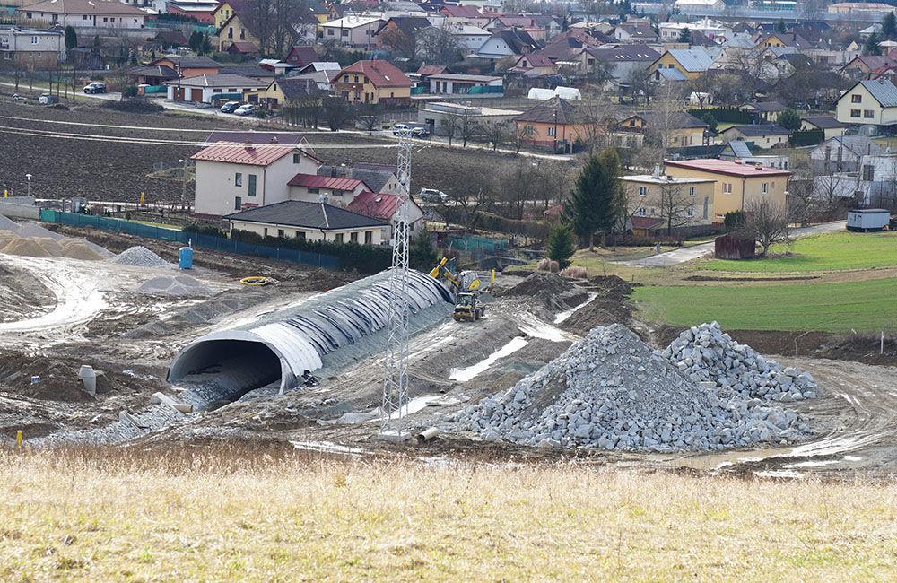 FOTO: Aktuálny stav prác na stavbe diaľničného privádzača 02.03.2020, foto 3