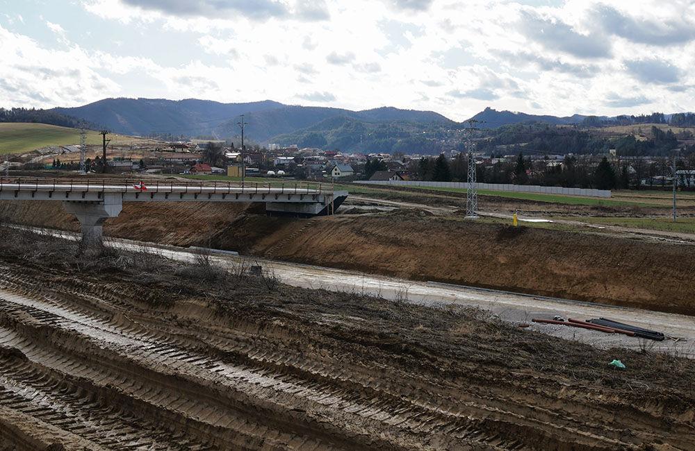 FOTO: Aktuálny stav prác na stavbe diaľničného privádzača 02.03.2020, foto 12