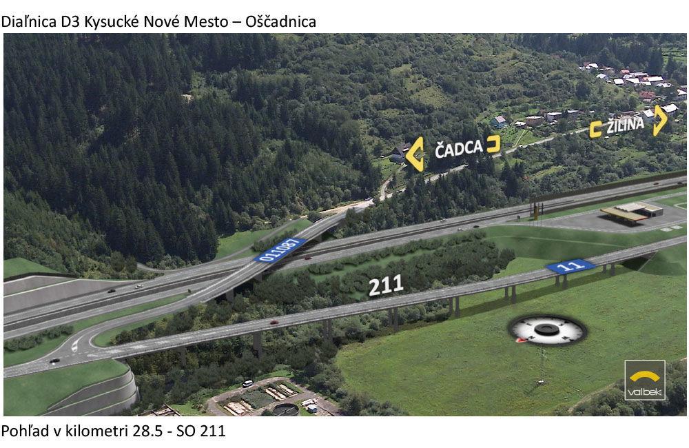 Vizualizácie diaľničného úseku D3 - Kysucké Nové Mesto - Oščadnica, foto 5