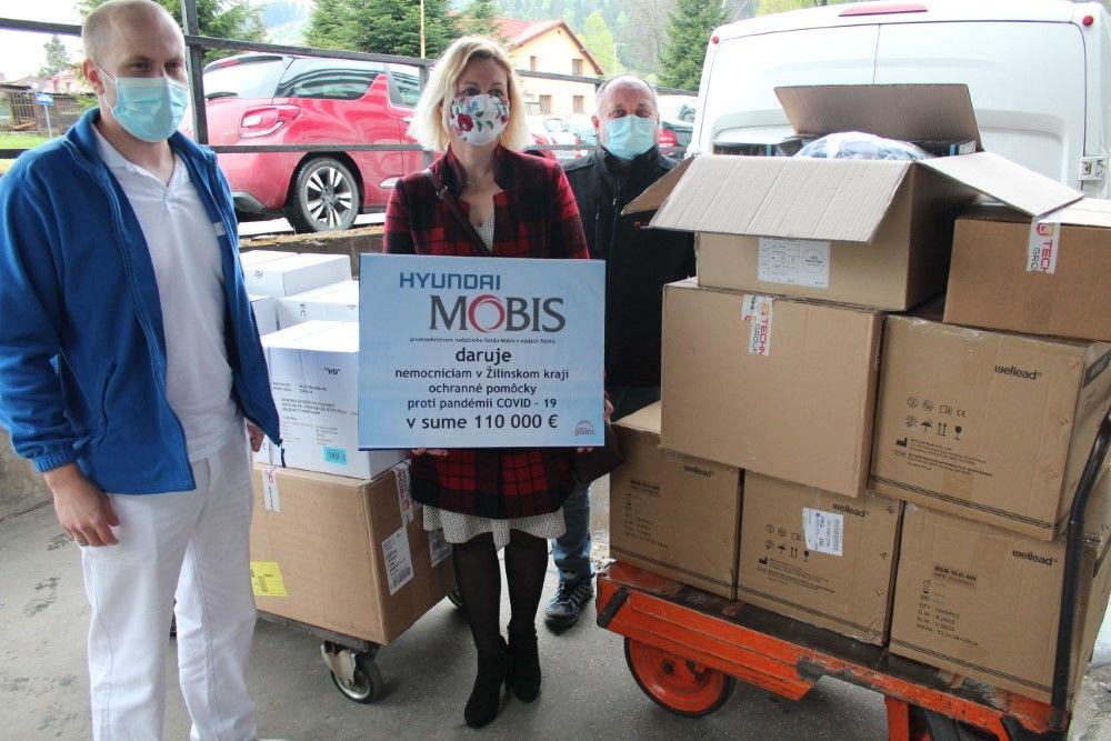 Mobis Slovakia dar nemocniciam v boji proti COVID-19, foto 3