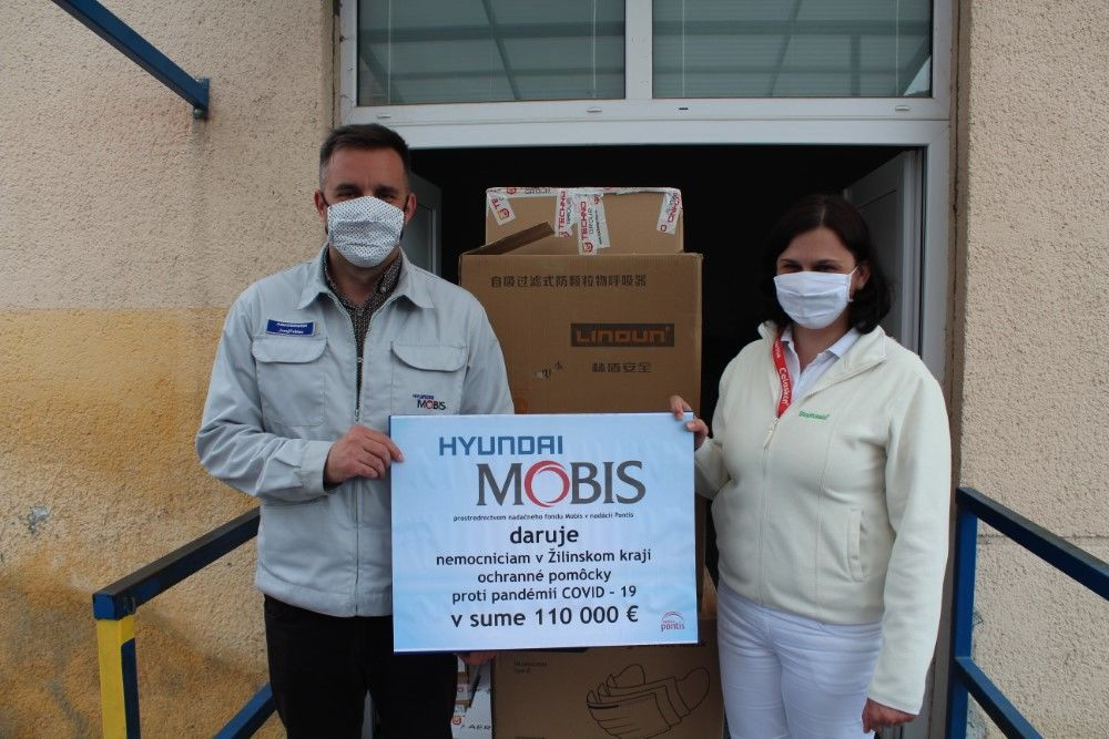 Mobis Slovakia dar nemocniciam v boji proti COVID-19, foto 5