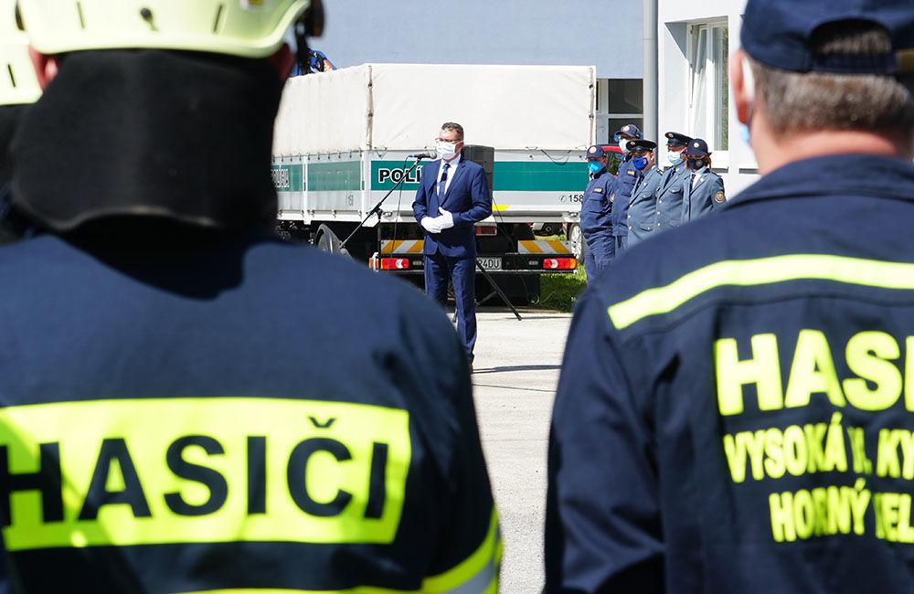 Odovzdanie nových vozidiel pre dobrovoľné hasičské zbory v Žilinskom kraji 22.5.2020, foto 13