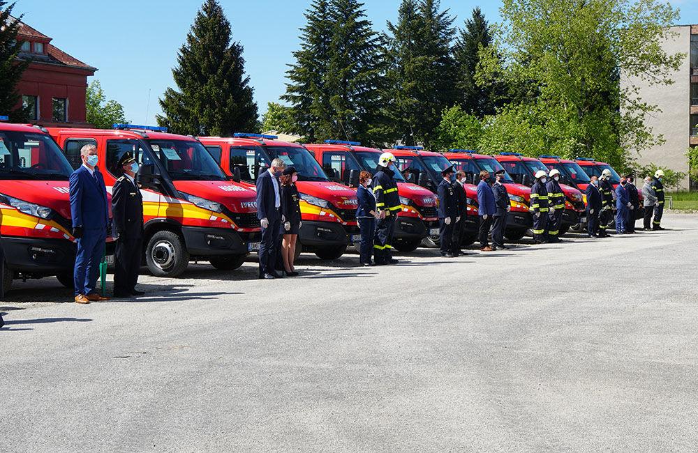 Odovzdanie nových vozidiel pre dobrovoľné hasičské zbory v Žilinskom kraji 22.5.2020, foto 15