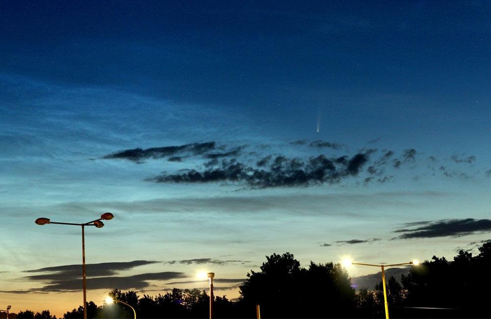FOTO: Kométa NEOWISE zachytená na fotografiách v Žilinskom kraji, foto 1