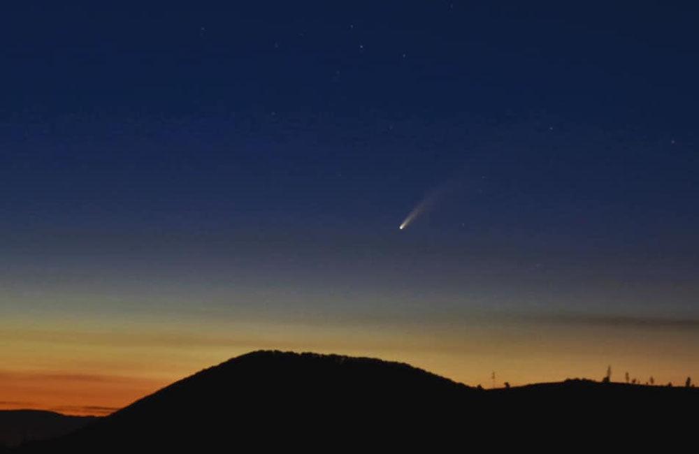 FOTO: Kométa NEOWISE zachytená na fotografiách v Žilinskom kraji, foto 2