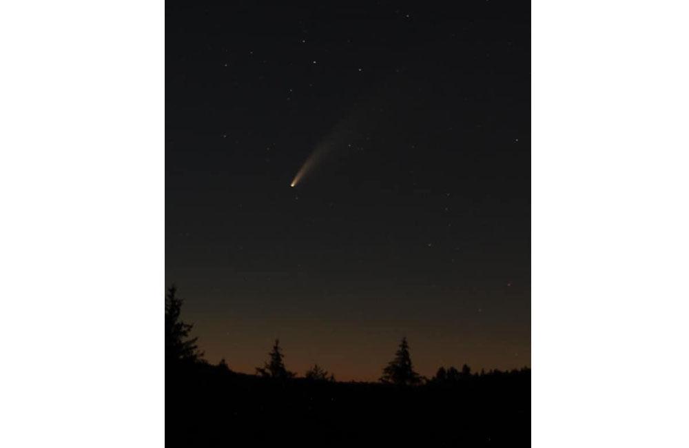 FOTO: Kométa NEOWISE zachytená na fotografiách v Žilinskom kraji, foto 5