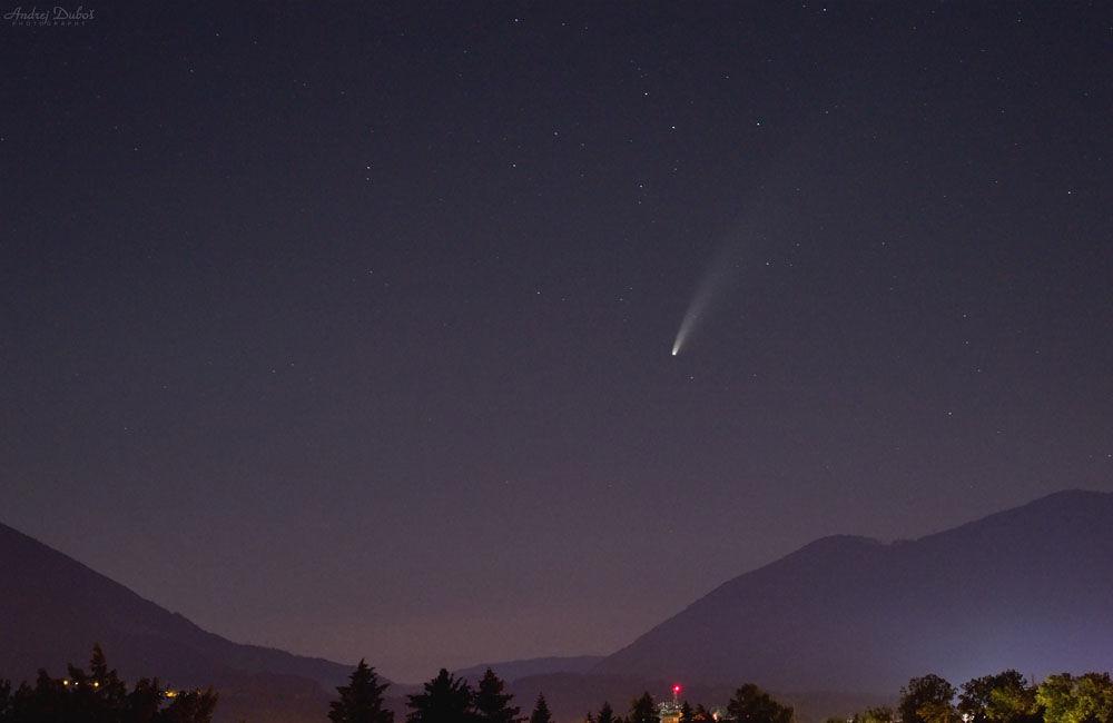 FOTO: Kométa NEOWISE zachytená na fotografiách v Žilinskom kraji, foto 4