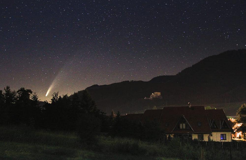 FOTO: Kométa NEOWISE zachytená na fotografiách v Žilinskom kraji, foto 6