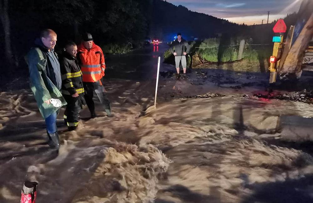 FOTO: Následky prívalových dažďov v piatok 24. júla odstraňovali v okresoch Žilina a Čadca, foto 1