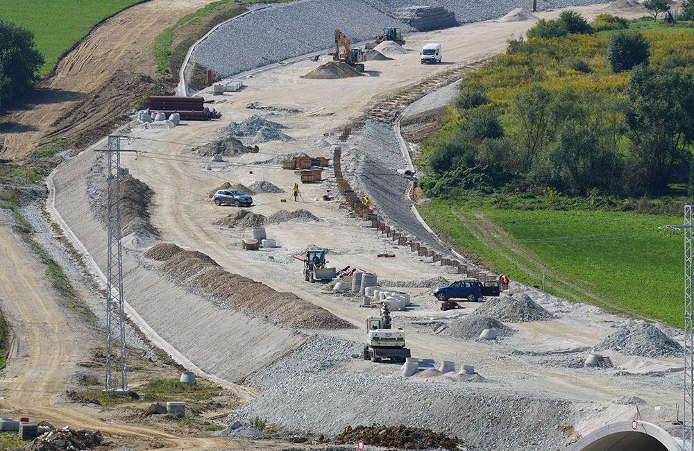 FOTO: Aktuálny stav prác na stavbe diaľničného privádzača 14.09.2020, foto 1
