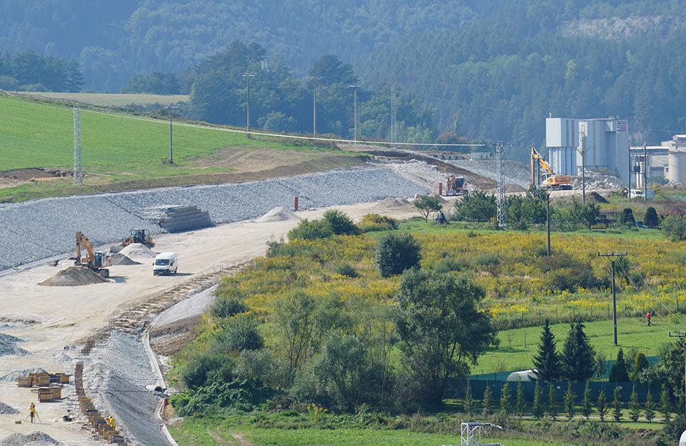 FOTO: Aktuálny stav prác na stavbe diaľničného privádzača 14.09.2020, foto 3