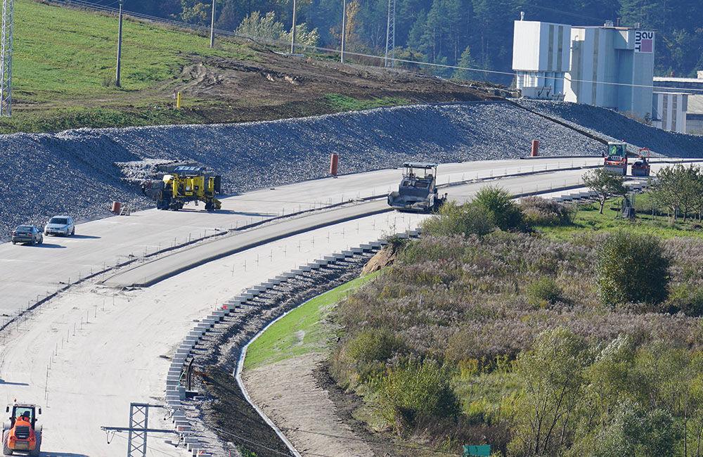 FOTO: Aktuálny stav prác na stavbe diaľničného privádzača 22.10.2020, foto 2