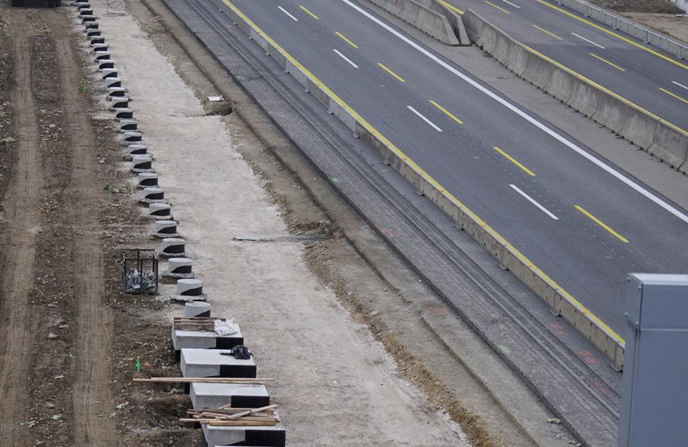 FOTO: Diaľničnú križovatku v Hričovskom Podhradí rozširujú krátko pred otvorením o nové jazdné pruhy, foto 8