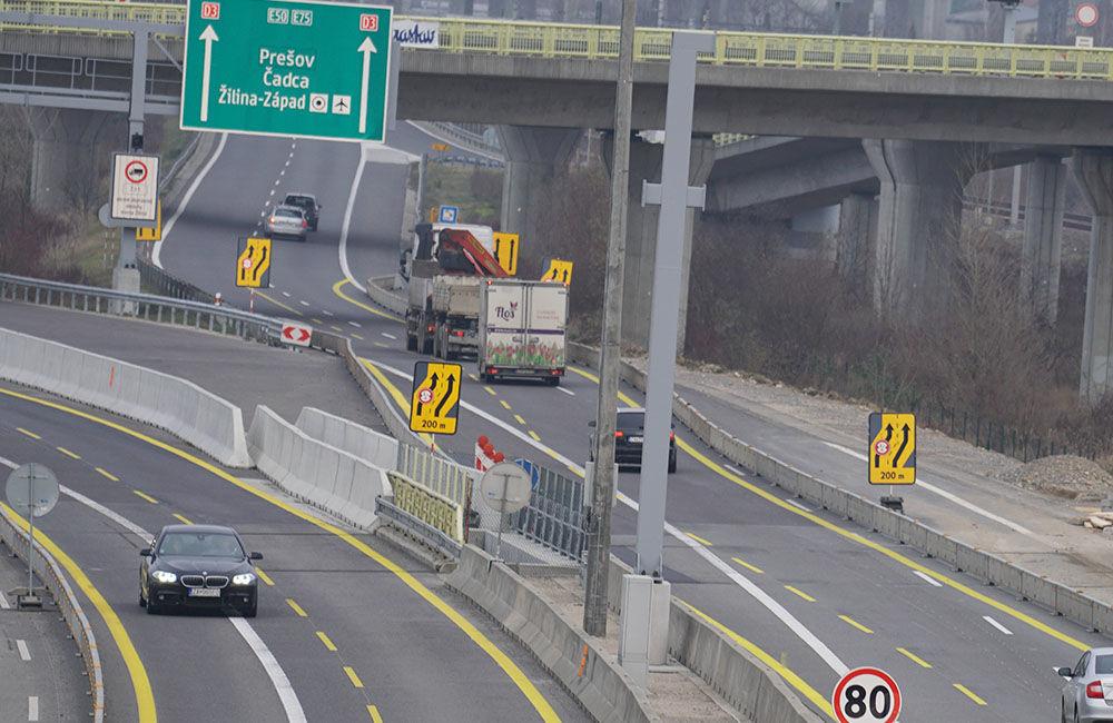 FOTO: Diaľničnú križovatku v Hričovskom Podhradí rozširujú krátko pred otvorením o nové jazdné pruhy, foto 10