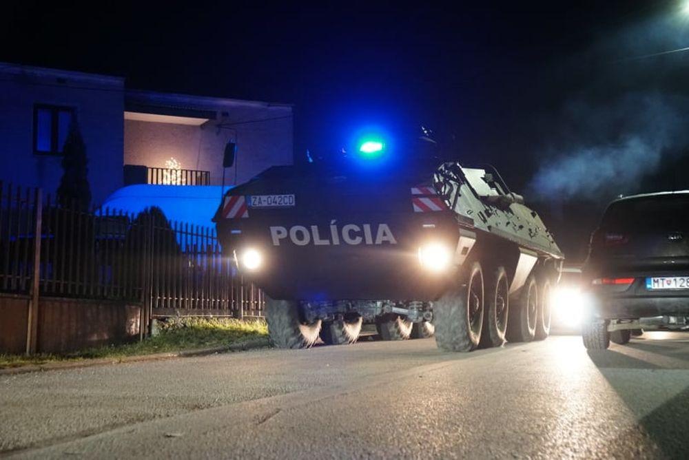 FOTO: Policajný zásah v Strečne 14. december 2020, foto 1