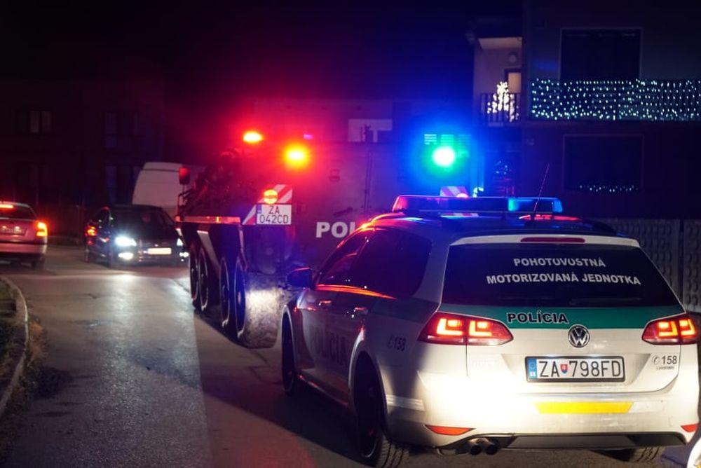 FOTO: Policajný zásah v Strečne 14. december 2020, foto 3