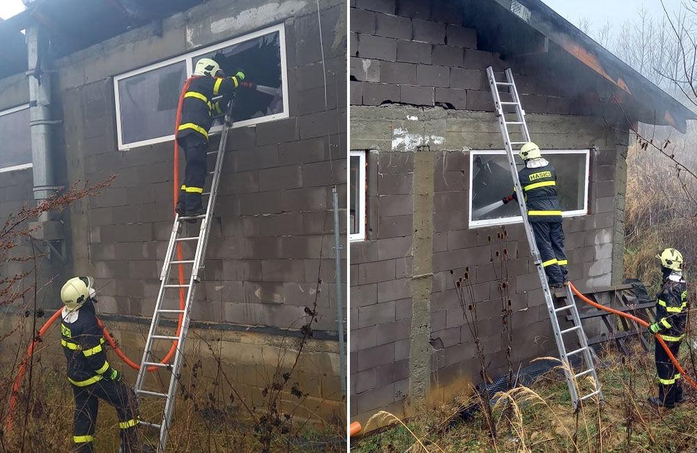 FOTO: Dnes dopoludnia došlo k požiaru haly v obci Rosina, hustý dym bolo vidieť z celého mesta, foto 10