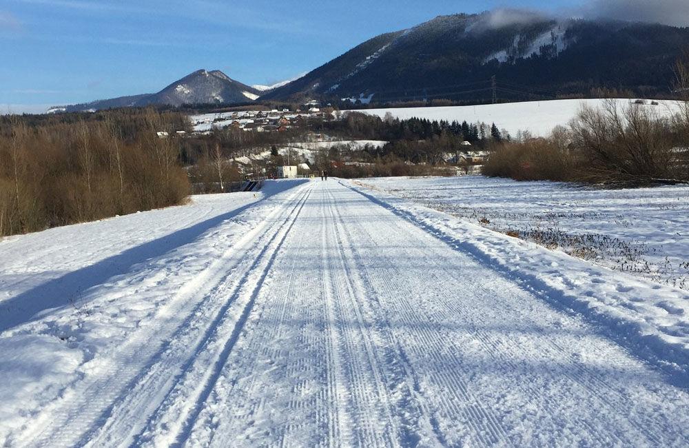 FOTO: Na Vodnom diele Žilina bola vytvorená trať pre bežkárov vedúca až do obce Varín, foto 4
