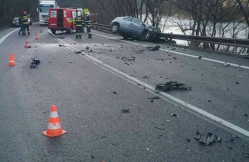 FOTO: Dopravná nehoda v meste Ružomberok 26.2.2021, foto 2