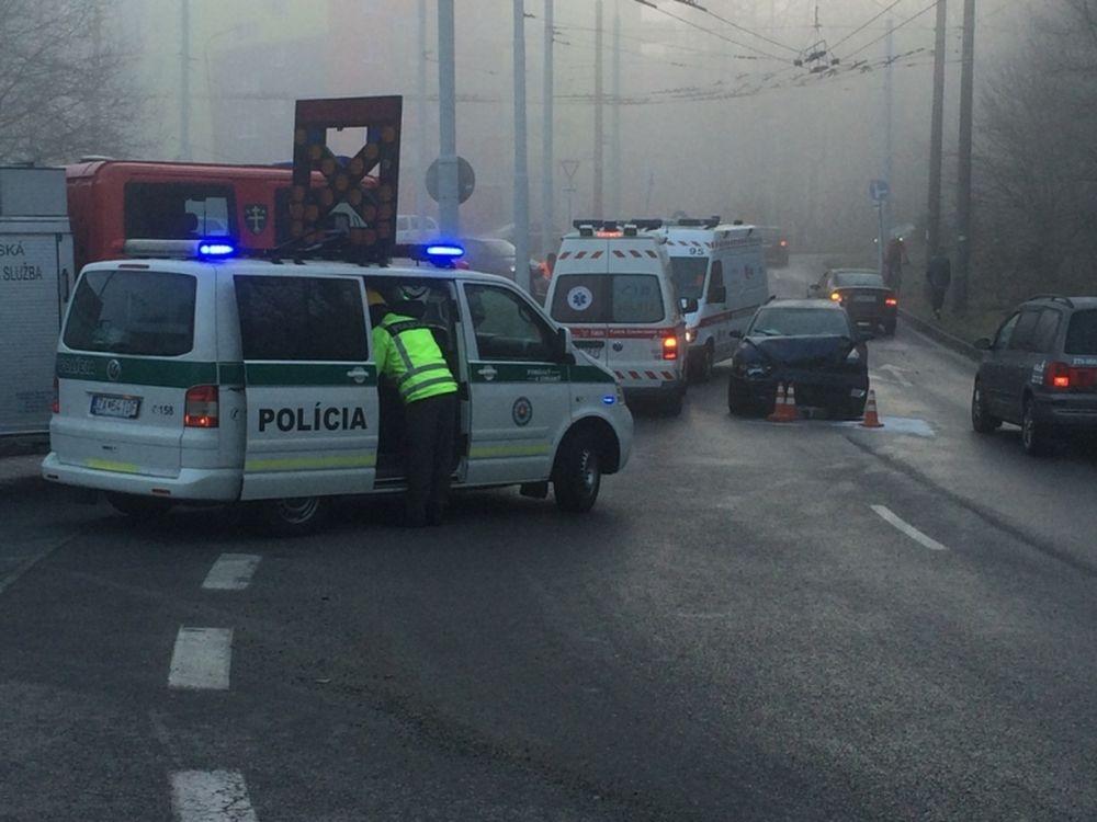 Čelná zrážka áut na Vlčincoch, foto 1