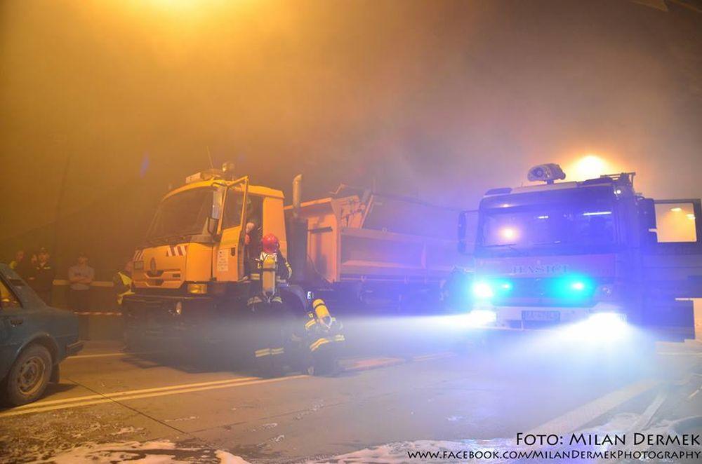 Cvičenie žilinských hasičov v tuneli Horelica v Čadci, foto 2