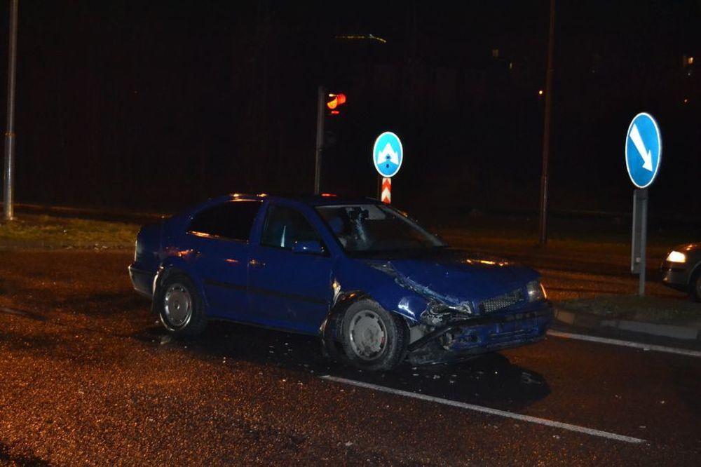 Dopravná nehoda pri Celulózke 17.1.2014, foto 1