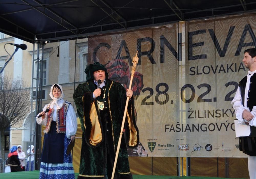 Fašiangové masky v Žiline v roku 2014, foto 1