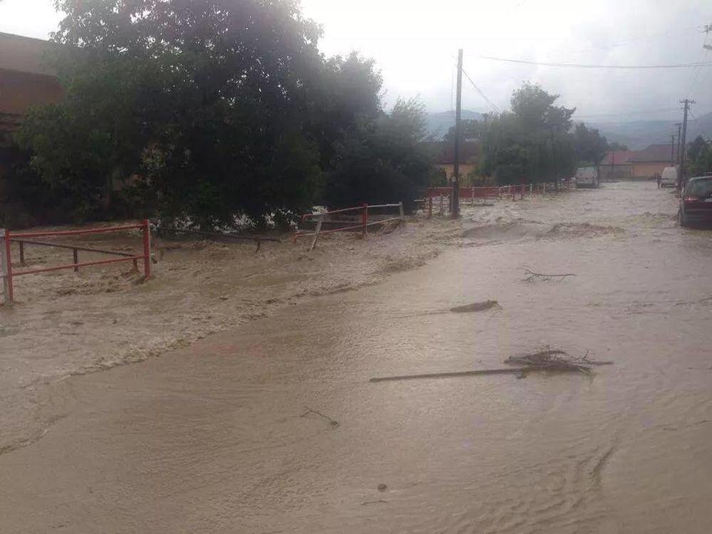 Povodeň po silnej búrke v obci Rosina a Višňové, foto 2