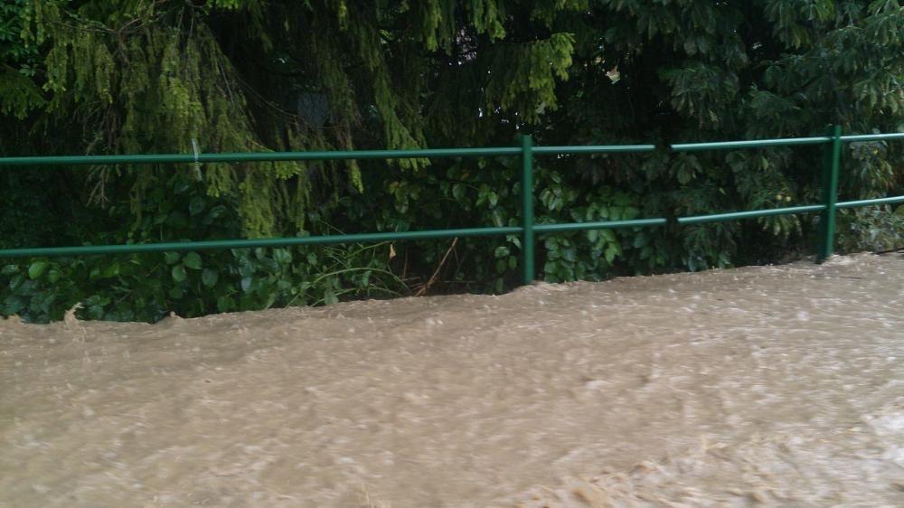 Povodeň po silnej búrke v obci Rosina a Višňové, foto 3