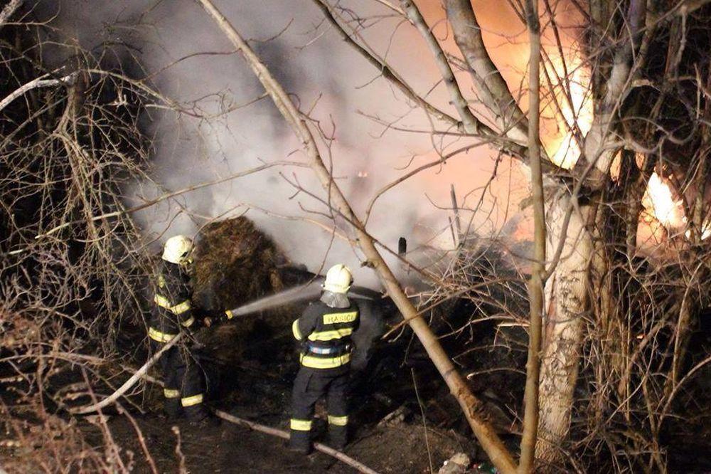 Požiar humna v Belej 11.3.2014, foto 2