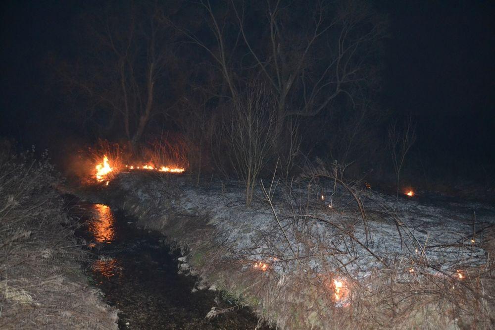 Požiar trávnatých porastov v Trnovom v sobotu 8.marca 2014, foto 3