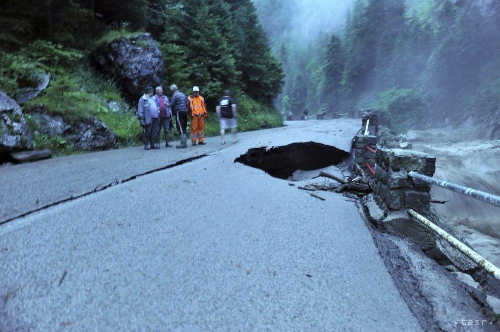 Silná búrka v obci Terchová 21.7.2014, foto 3