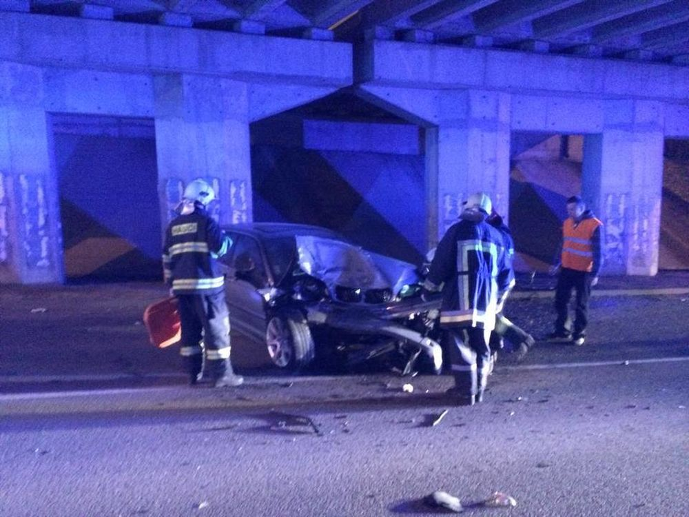 Vážna dopravná nehoda v Považskom Chlmci 9.3.2014, foto 2