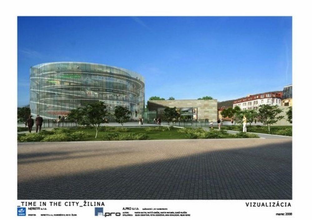 Vizualizácia nového námestia A.Hlinku z roku 2008, foto 1