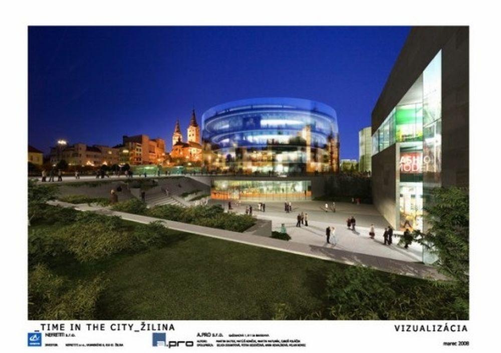 Vizualizácia nového námestia A.Hlinku z roku 2008, foto 2