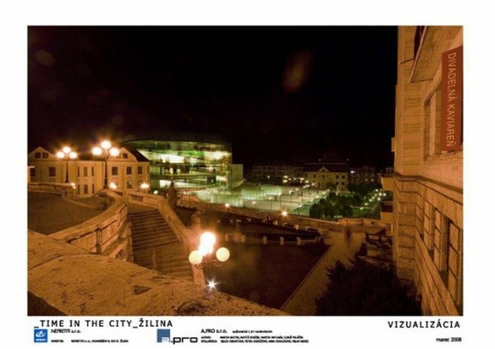 Vizualizácia nového námestia A.Hlinku z roku 2008, foto 3
