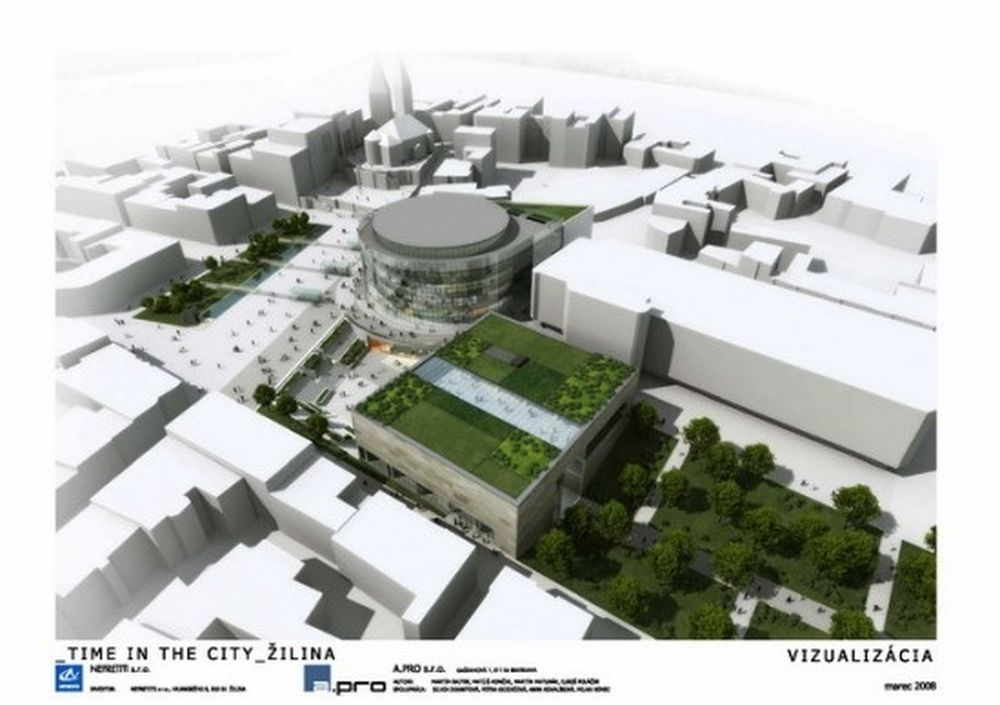Vizualizácia nového námestia A.Hlinku z roku 2008, foto 4