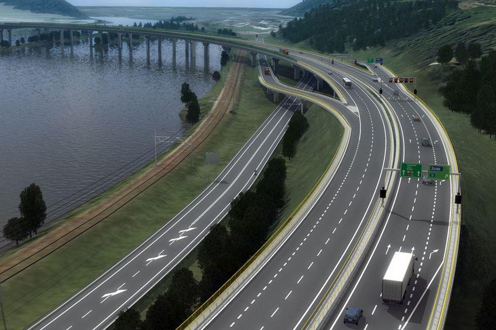 Vizualizácia úseku diaľnice D3 Žilina, Strážov – Žilina, Brodno, foto 1
