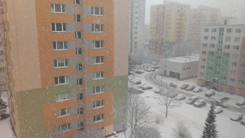 Výdatné sneženie 30.1.2015 v Žiline, foto 1