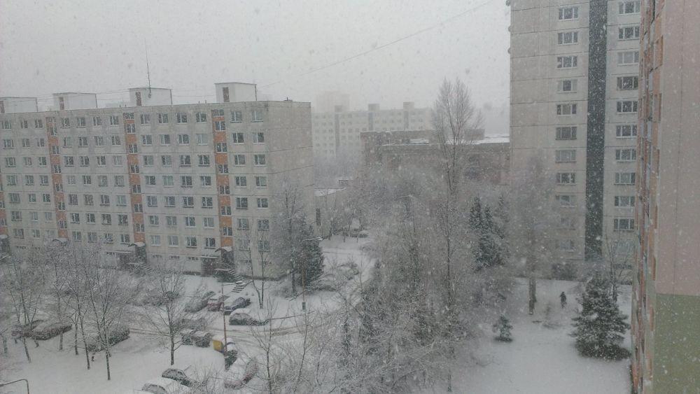 Výdatné sneženie 30.1.2015 v Žiline, foto 2