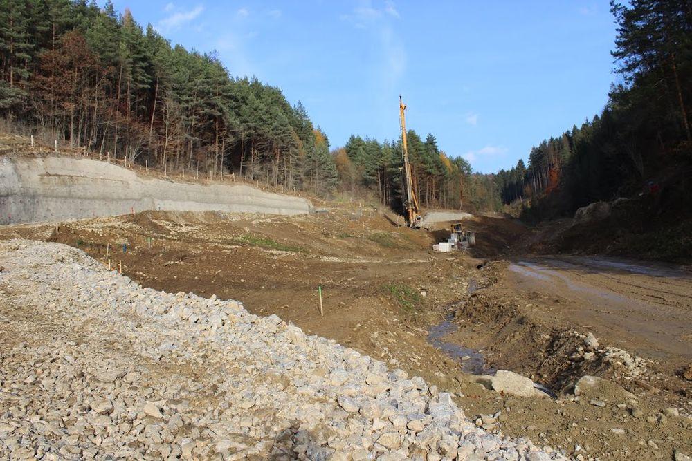 Výstavba diaľnice D3 pri Žiline - Strážov - Brodno, foto 4
