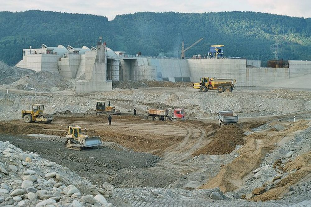 Vodné dielo Žilina - výstavba, foto 2