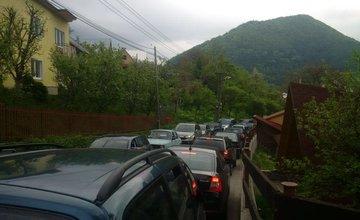 Zápcha v mestskej časti Vranie