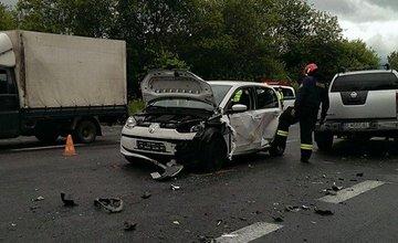 Dopravná nehoda a kolóny pri Mojšovej Lúčke 23.6.2015