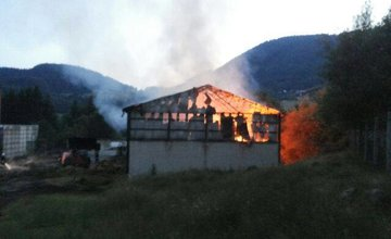 Požiar ovčína v obci Belá Zlieň 4.5.2015