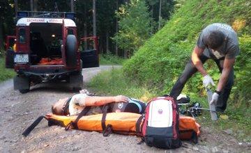 39 ročný cyklista spadol na lesnej ceste v Malej Fatre