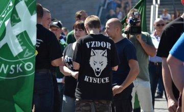 Priebeh protestu na námestí Andreja Hlinku 11.7.2015