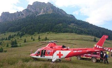 Chlapec spadol počas zostupu z Veľkého Rozsutca, viezol ho vrtuľník