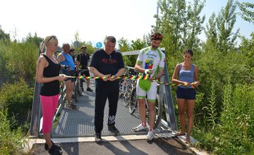 Otvorenie novo-vyasfaltovaného úseku BikeKIA